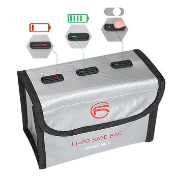 Przechowywanie baterii torba przenośny pojemnik przeciwwybuchowy torba z etykietą energetyczną dla dji mavic air 2 akcesoria do dronów tanie i dobre opinie SKSKTU CN (pochodzenie) 47 75 104g SKTU-015-826 Battery storage bag