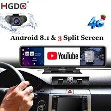Автомобильный видеорегистратор HGDO, 12 дюймов, Android 8,1, 4G, ADAS, FHD 1080P, Wi-Fi, GPS