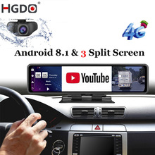 HGDO 12'' Auto DVR Dashboard Kamera Android 8,1 4G ADAS Rückspiegel Video Recorder FHD 1080P WiFi GPS Dash Cam Registrator