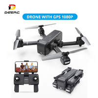 DEERC DE25 GPS Drone With 1080p HD Camera 120° FPV Wifi Live Video Professional Drone GPS RC Helicopter Quadcotper Quadrocopter