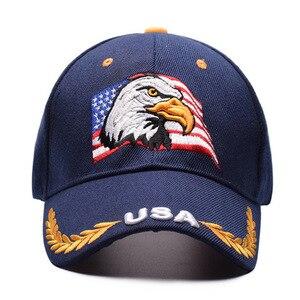 Image 4 - を 2019 新イーグル刺繍野球帽ファッションヒップホップの帽子アウトドアスポーツキャップ人格トレンドパパキャップ