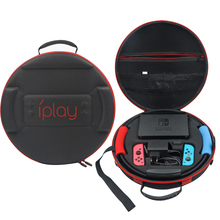 Portable Hard Shell Protective Storage Carrying Bag Big Capacity Zipper Case for Nintend NS Switch Console/Joystick/Fitness Ring