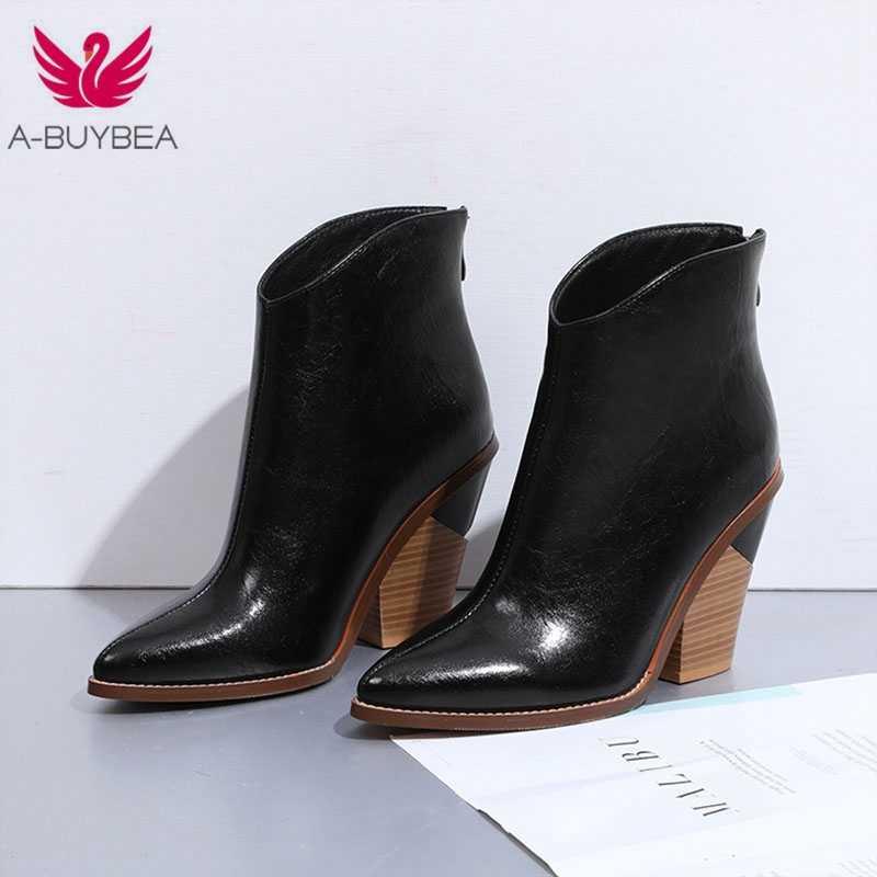 Новые ковбойские модные женские туфли на квадратном каблуке со змеиным принтом; женские ботильоны в западном стиле; красивые ковбойские сапоги для женщин
