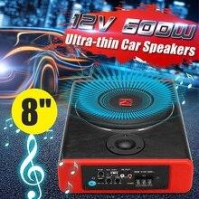 Active Subwoofer Speaker Enclosure Bass-Amplifier Auto-Sound Car 600W 8-Vehicle