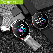 Torntisc 240*240 Einzelnen Touch IP67 Wasserdichte Intelligente Uhr Männer Frauen Herz Rate Monitor Austauschbare Stahl Strap Smartwatch männer
