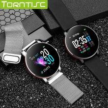 Torntisc 240*240 único toque ip67 à prova dip67 água relógio inteligente masculino feminino monitor de freqüência cardíaca substituível pulseira de aço smartwatch