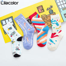 Women Cotton Socks Cartoon Autumn New Fashion Female Harajuku Girls Students Woman Stock