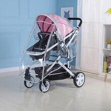 Baby Stroller Rain Cover Transparent Safe EVA Rain Cover For Pushchair Pram Baby Travel Weather Shield Easy To Install