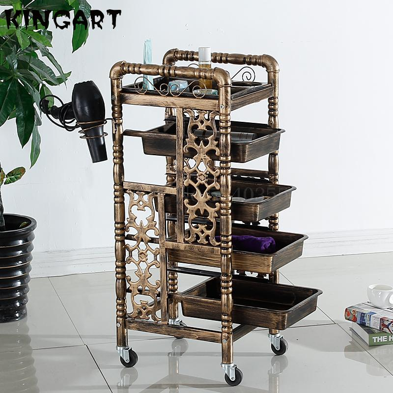 Salon Stroller Beauty Salon Tool Trolley Furniture Dedicated Bar Car Hair Salon Rolling Cart Rack Barber Shop Cart Tool Cabinet