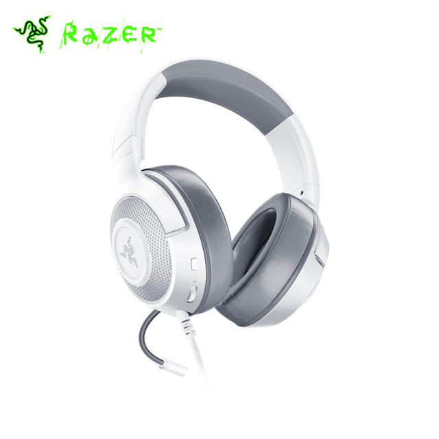 Headset Gamer Razer Kraken X, P2, Drivers 40mm, Mercury White - RZ04-02890300-R3U1 1
