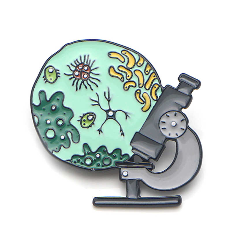 Perlengkapan Medis Mikroskop Seng Alloy Dasi Pin untuk Kemeja Tas Pakaian Topi Ransel Sepatu Bros Medali Dekorasi E0395