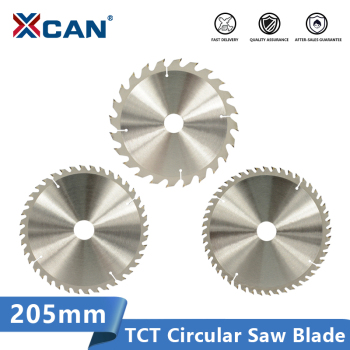 цена на XCAN 205mm Saw Blade Wood Cutting Disc 24 40 48T Carbide Tipped Circular Saw Disc  Wood Saw Blade