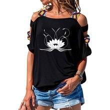 NEW 3d Mandala Lotus Women tshirt Cotton Casual Funny t shirt Girl Short Sleeve