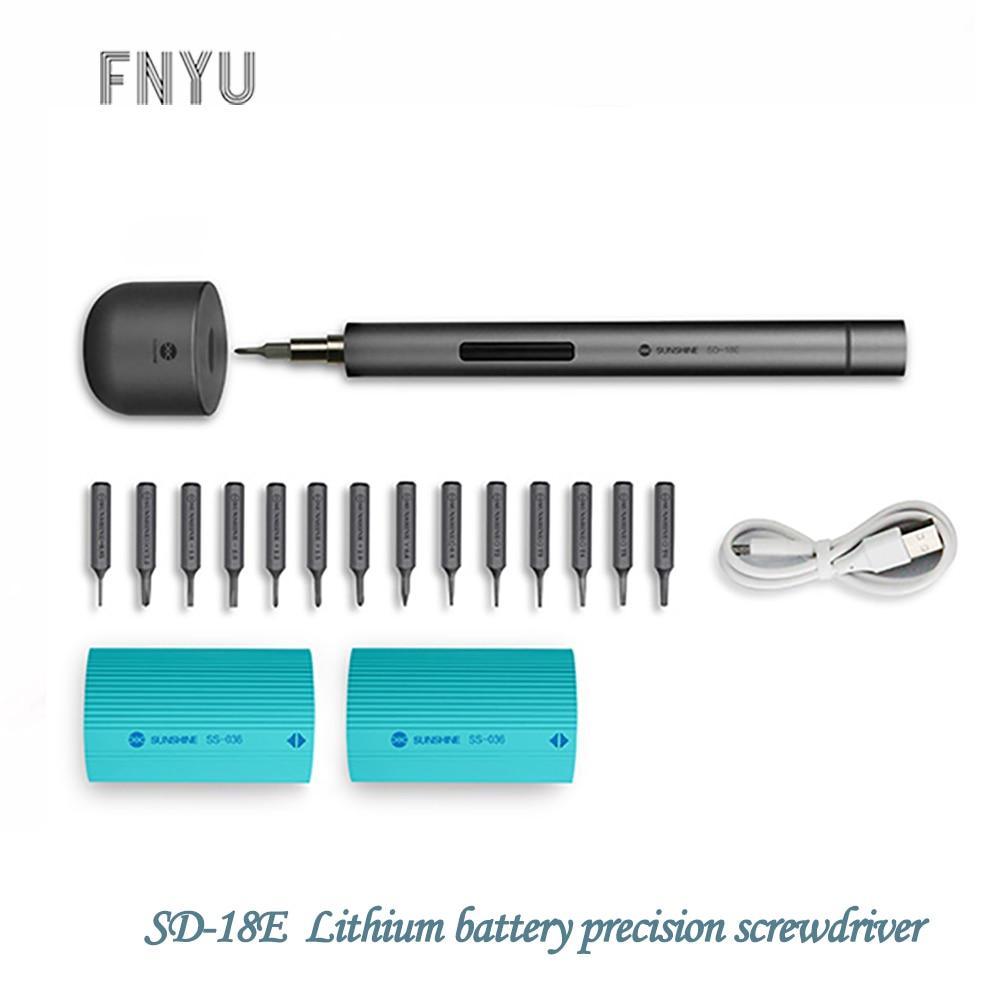 SUNSHINE 3-LED Lithium Battery Electric Screwdriver Set Mini USB Rechargeable Precision Mobile Phone Repair Tool Screwdriver Kit