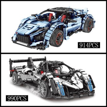 RC Technic Building Blocks Series Remote-controlled 2 Styles Road Racing Car Model Bricks Compatible Lepined Kids Toys DIY Gifts moc technic series fd35 rx7 remote control vehicle rc car redsuns model kit building blocks bricks c61023 for kids toys gifts