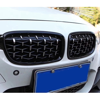1 Pair 5 Series F10 Front Kidney Grille for Bmw 5 Series F10 2014-2017 520I 525I 528I Diamond Grille Meteor Style Front Bumper G