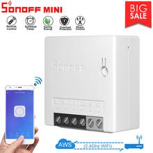 1 10 stück Sonoff Mini R2 DIY Smart Switch Kleine Ewelink Fernbedienung Wifi Schalter Unterstützung Externe Arbeit mit alexa Google Hause cheap CN (Herkunft) RoHS Bereit zur Mitnahme All Compatible Nein
