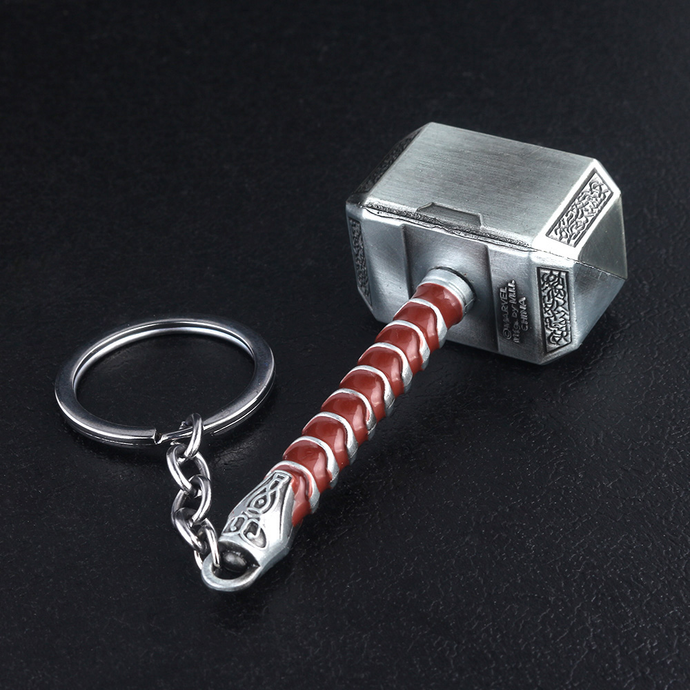 Cheap Keychains Thor Hammer Avengers 4 Jewelry Accessories 13