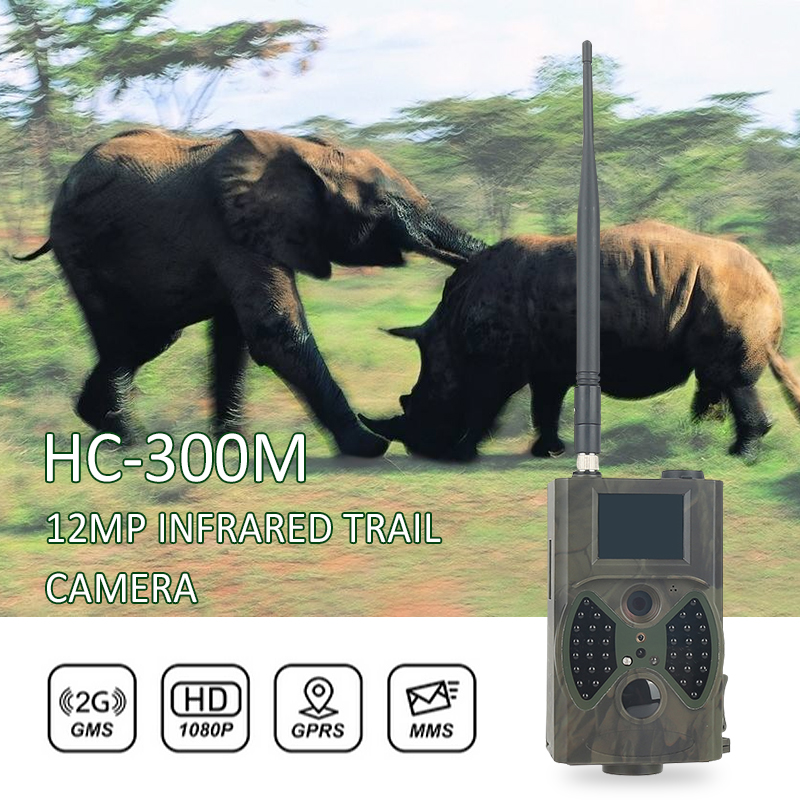 HC300M Hunting Trail Camera 12MP 940nm MMS Night Vision Invisible Infrared Hunting Camera GMS GPRS 2G Phototrap Wild Camere