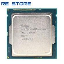 Процессор Intel Xeon 1246v3 LGA 1246, б/у процессор, 3,5 ГГц, четырехъядерный, восьмипоточный, 84 Вт