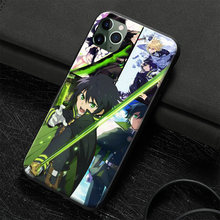 Yuichiro hyakuya owari nenhum seraph anime caso do telefone capa escudo para o iphone se 6s 7 8 6splus 7plus 8 x xr xs 11 pro max