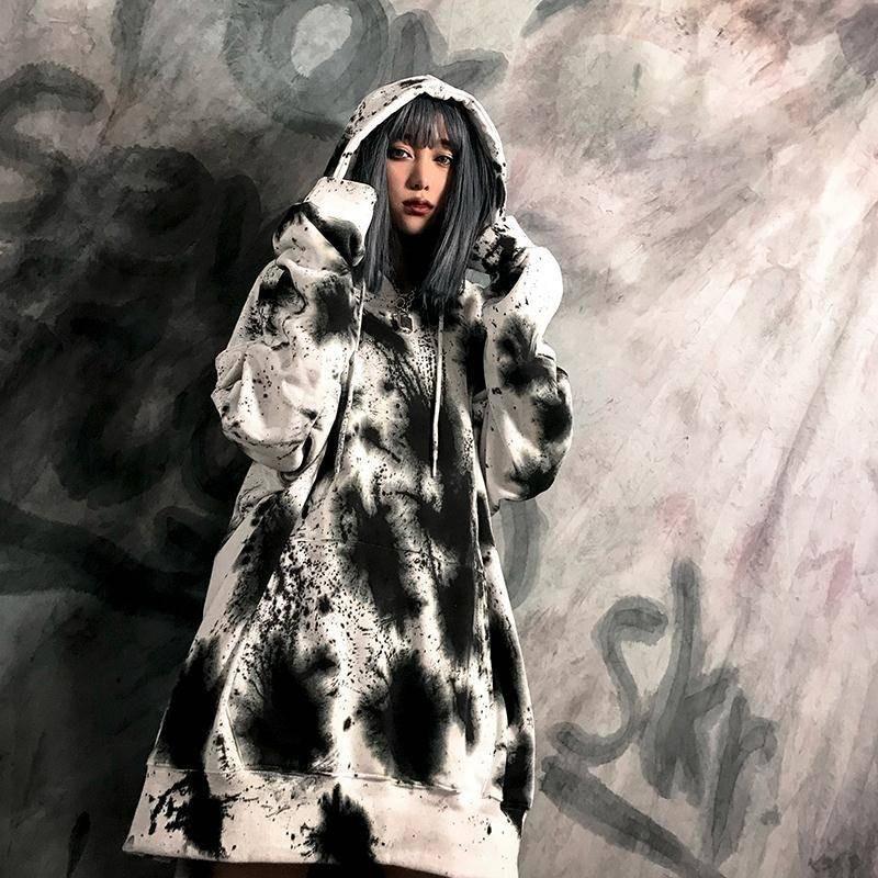 Casual Autumn Hoodie Women Gothic Sweatshirt Korean Ulzzang Harajuku Long Sleeve Sweatshirt Funny Hip Hop Hoodie Streetwear