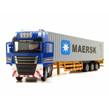 1:50 Maersk Container Alloy Large Truck Model Semi-Hanging Heavy Transport Truck Heavy Truck Dump Dump Truck Engineering Vehicle cat caterpillar ct660 dump truck yellow 1 50 model by diecast masters 85290