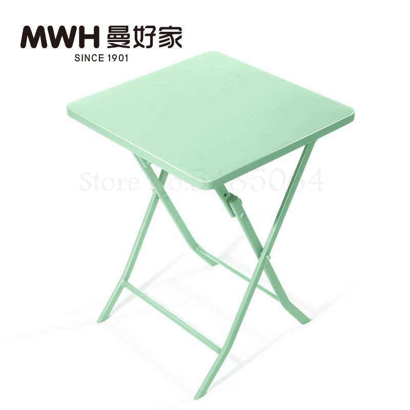 Железный маленький стол, складной небольшой квадратный стол, простой маленький круглый стол, журнальный столик для спальни, маленький обеденный стол для балкона - Цвет: Sparks Fy 3