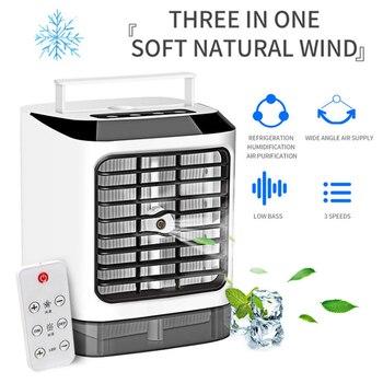 С пультом дистанционного управления, вентилятор кондиционера, охладитель воздуха, мини, три режима переключения передач, охлаждающий венти...