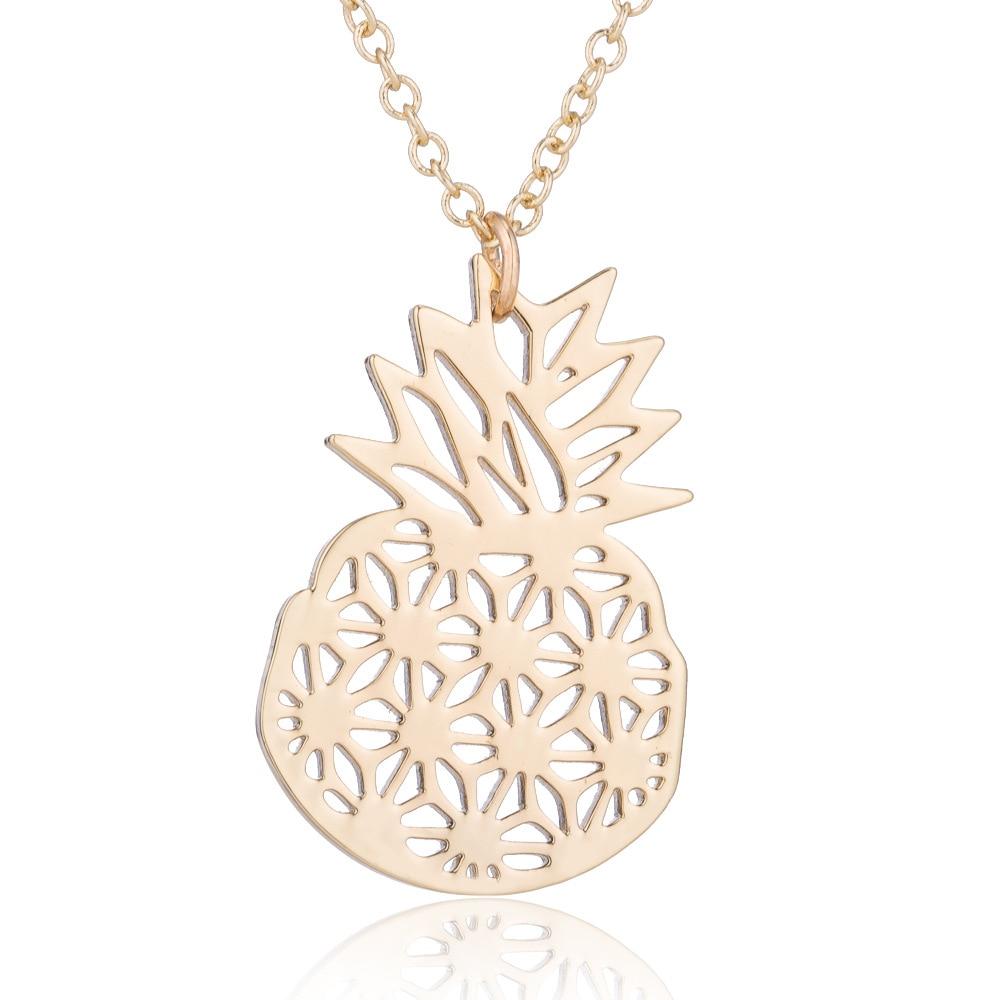 Fashion Hollow Fruit Chain Alloy Pineapple Necklace Pendant Fruit Chain