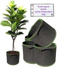 5 Pcs Plants with Pots, Handles, Breathable Growth Bags, Round Planting Containers, Nursery Gallons, Growth Bags for Plants