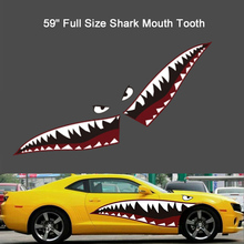 2 × DIY Shark Mouth Tooth Teeth Graphics PVC Car Sticker Decal for Waterproof  Accessories