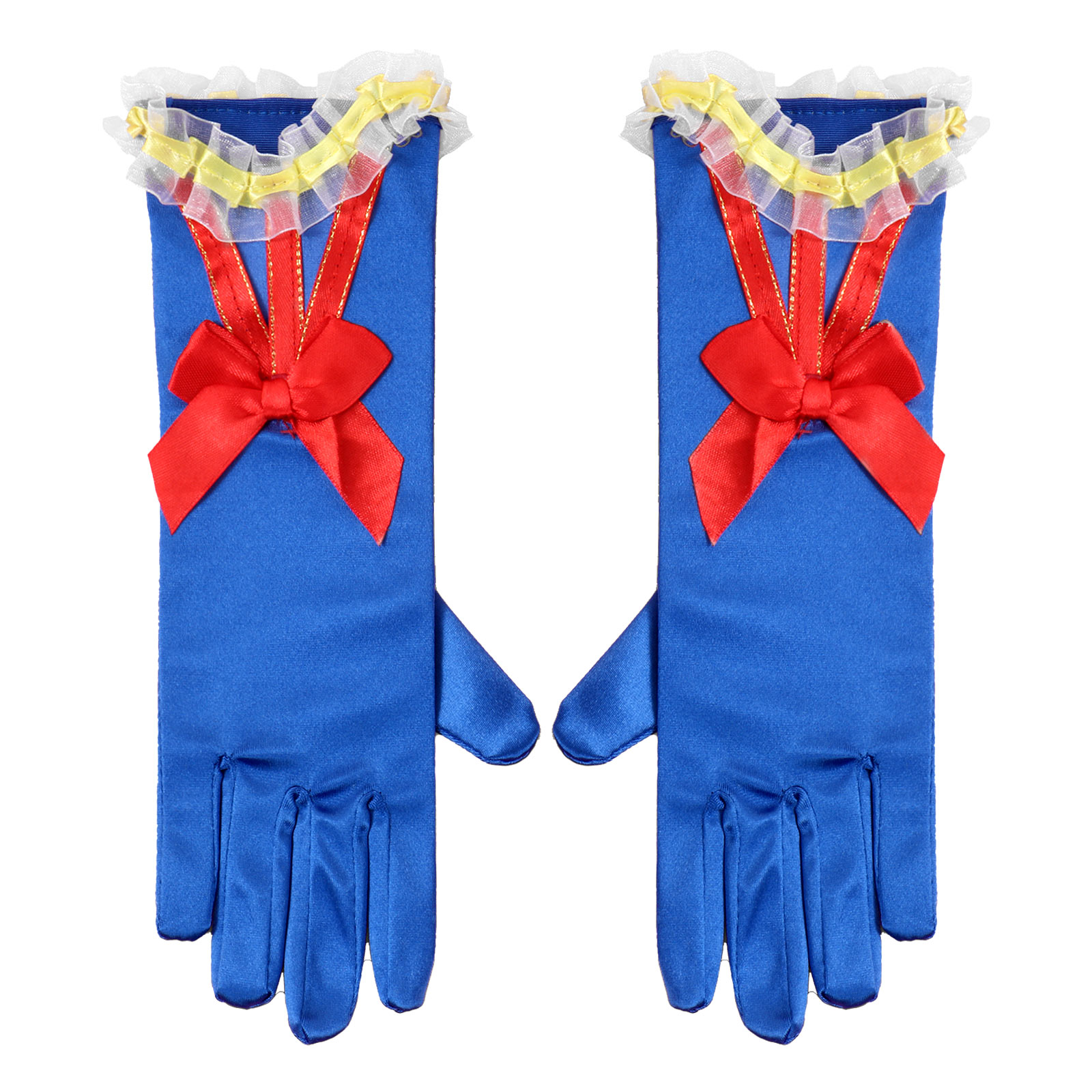 Elsas Girl Costume Princess Dress Up Gloves Girls Cosplay Costume Accessories Halloween Role Play Princess Birthday Party Gloves