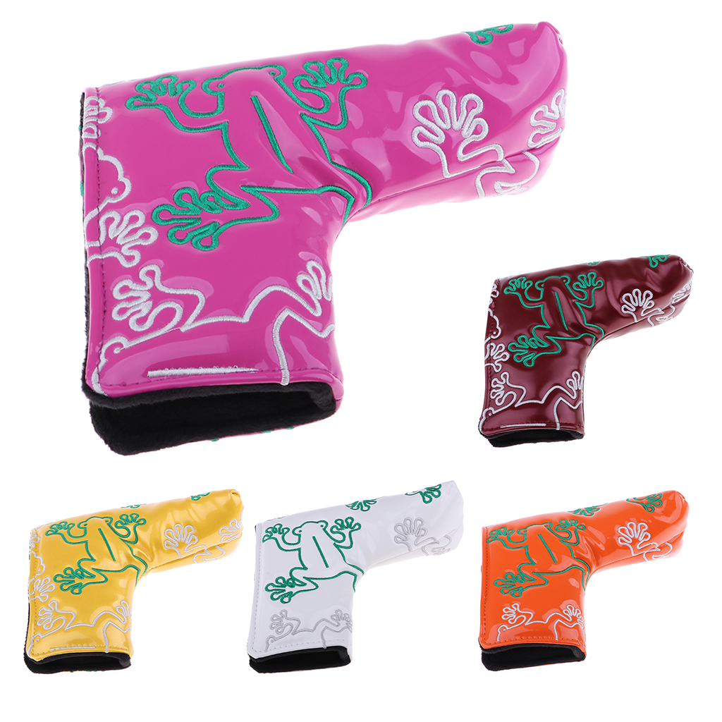 Golf Putter Cover Frog Pattern Blade Center Putter PU Head Protector Waterproof Club Driver Head Protector Golf Accessories
