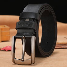 Genuine leather high quality men belt for suits or casual jeans.