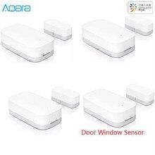 بيع بالجملة نسخة محدثة Aqara الذكية نافذة مستشعر الباب زيجبي اتصال لاسلكي معدات الأمن العمل لتطبيق Mi Home