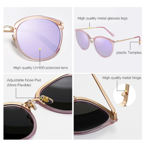 Image 3 - PARZIN Vintage Feminine Sun Glasses Polarized For Driving TR90 Oversized Sunglasses For Women Plastic Titanium