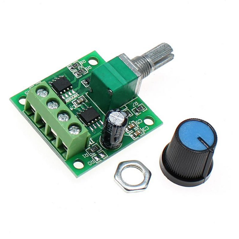 1pc <font><b>DC</b></font> 1.8V -12V 2A PWM <font><b>Motor</b></font> Speed Controller Regulator Low Voltage Fan Speed Control Switch PWM Adjustable Drive <font><b>5V</b></font> 12V image