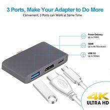Дизайн 3 usb type C Узловая док-станция в режим HDMI Dex для Samsung Galaxy S8/S9 с PD USB 3,0 для USB-C