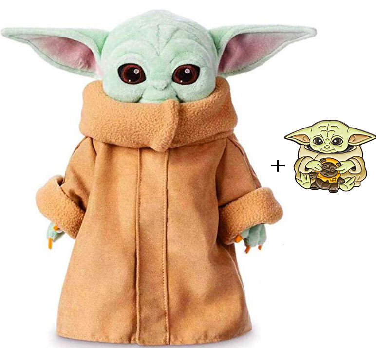 Yacn The Mandalorian Baby Yoda Plush Stuffed Toy, Collections And Gifts For Mandalorian Fans