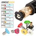 JUNGLEFLASH Pressure Washer Nozzle High Pressure Cleaner Quick Connect Car Washer Spray Tip Nozzle 4.0 Orifice Size