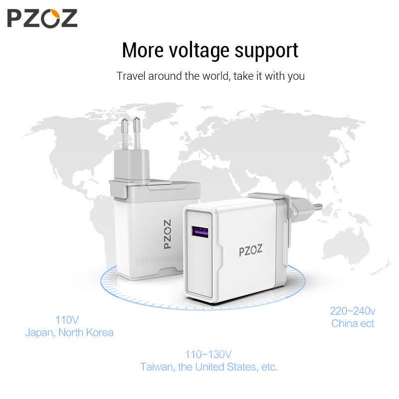 PZOZ 5A Super cargador EU adaptador de enchufe para Huawei P20 p10 mate 20 pro 10 lite carga rápida USB cargador 5 V/4.5A supercarga