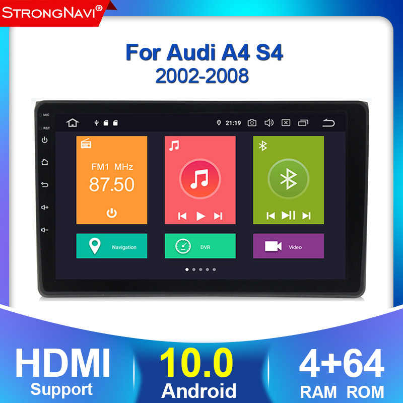 4G lte DSP IPS Android 10.0 4G 64G AUTO GPS Per Audi A4 B6 B7 S4 B7 b6 RS4 B7 seat exeo lettore dvd radio WIFI BT built-in CARPLAY