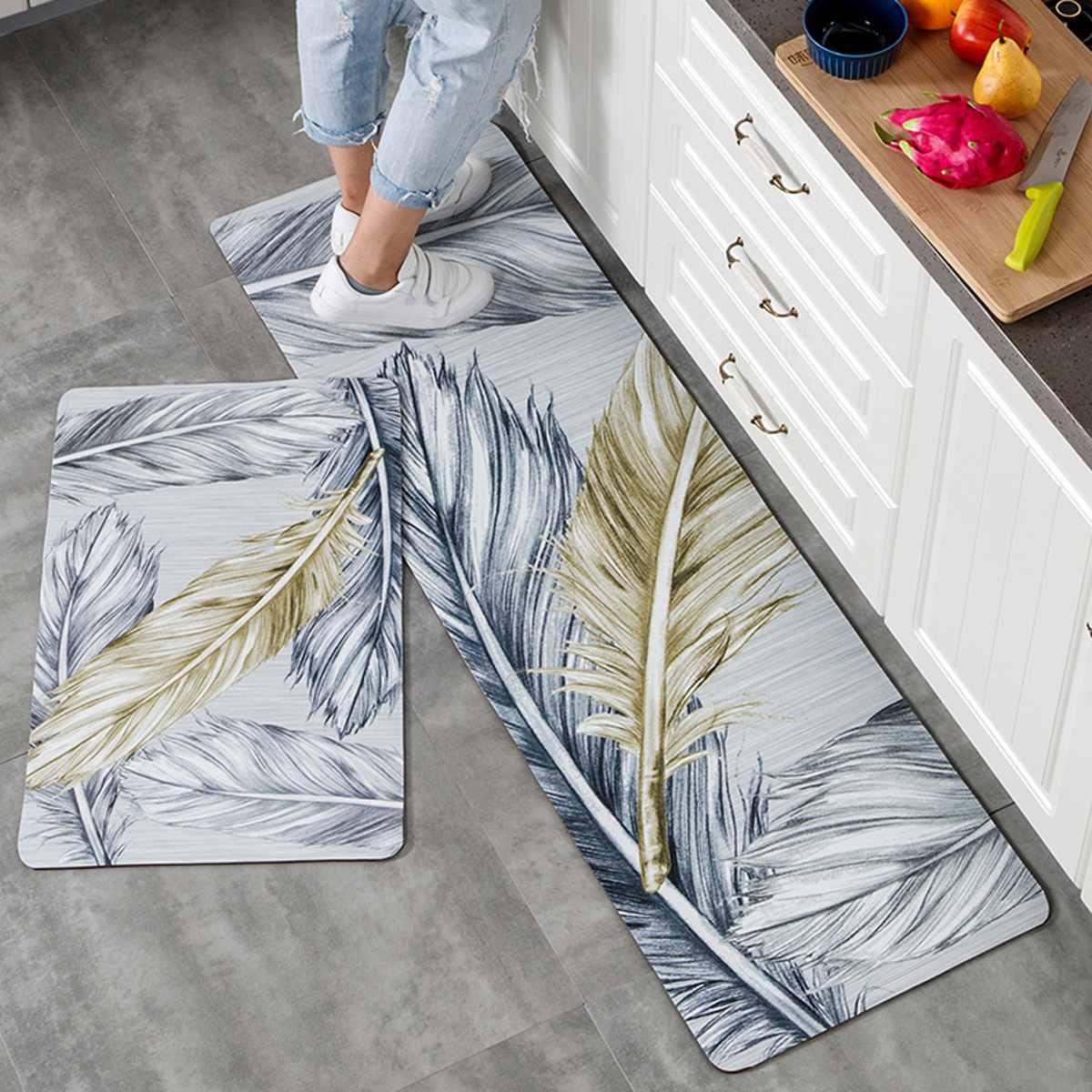 Us 12 99 40 Off Kitchen Carpets Pvc Floor Mats Large Floor Carpets Doormats Bedroom Tatami Waterproof Oilproof Kitchen Rugs In Mat From Home