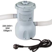 Pompe de filtration pour piscine souterraine, 220v, cadre métallique, facile à gonfler, filtration de l'eau