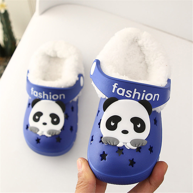 Детские сандалии; детские тапочки; сезон лето-осень; обувь для малышей; Домашние сабо с вырезами; обувь для пляжа и сада; съемная шерстяная нескользящая обувь - Цвет: blue 2