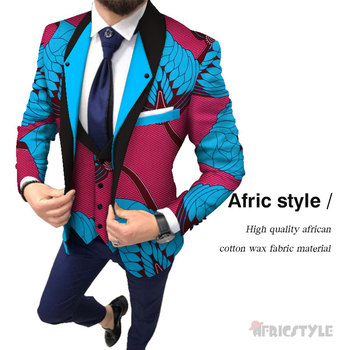 цена Fashion Men African Style Print Men Suit Jackets Festive Blazers Customized African Man's Blazers Africa Men's clothes wyn1031 онлайн в 2017 году