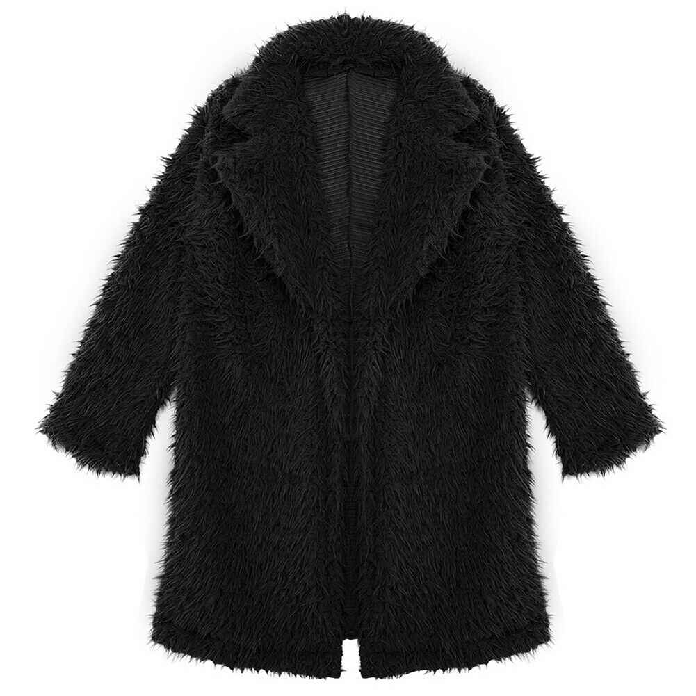 2019 mode Winter Frauen Faux Pelzmantel Fleece Pelz Warme Jacke Oberbekleidung Weibliche Graben Wolle Teddy Mantel Hoody Lange Pullover mujer