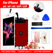 Display For iPhone 6 LCD For iPhone 5 6s Plus Screen With Touch Screen No Dead Pixel Replacement Digitizer Assembly Pantalla brand new 5 5 display parts for apple iphone 6s plus lcd screen replacement with tool kits lcd touch screen digitizer assembly