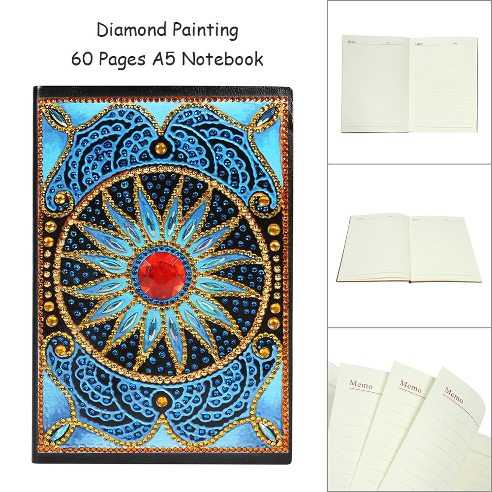 DIY Flower Special Shaped Diamond Painting 50 60 100 Pages A5 Notebook Diary Book Diamond Painting Cross Ctitch Kit in Diamond Painting Cross Stitch from Home Garden